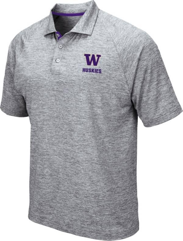 Colosseum Men's Washington Huskies Grey Wedge Polo product image