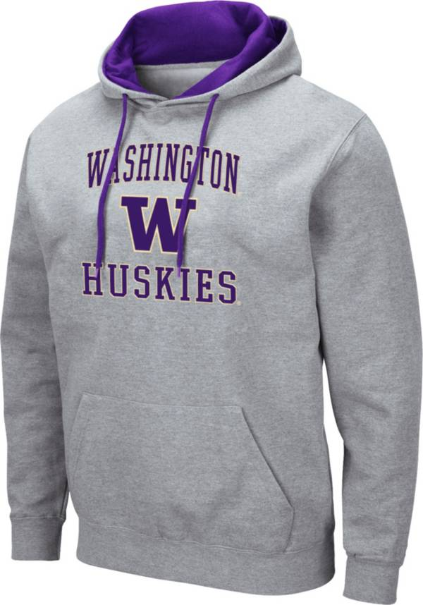 Colosseum Men's Washington Huskies Grey Pullover Hoodie product image