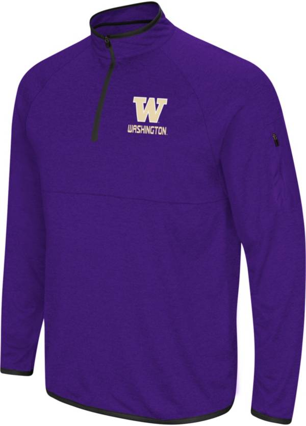 Colosseum Men's Washington Huskies Purple Rival Quarter-Zip Shirt product image