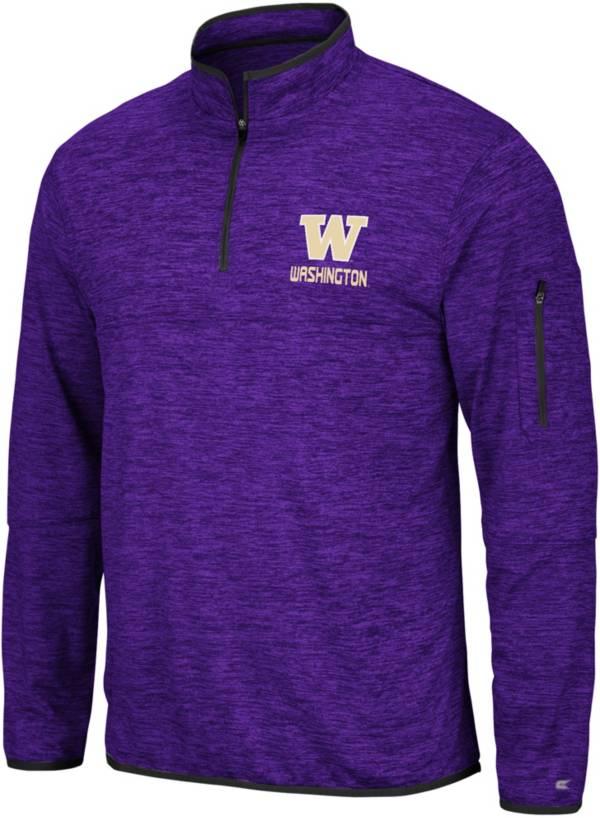 Colosseum Men's Washington Huskies Purple Slub Quarter-Zip Shirt product image