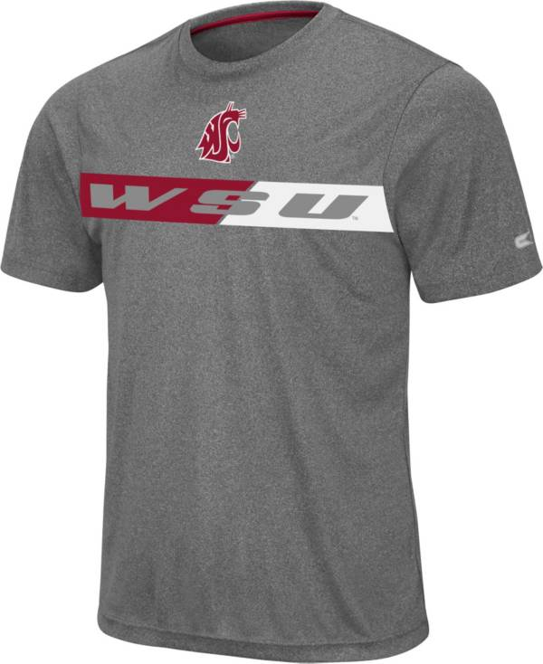 Colosseum Men's Washington State Cougars Grey Bait T-Shirt product image