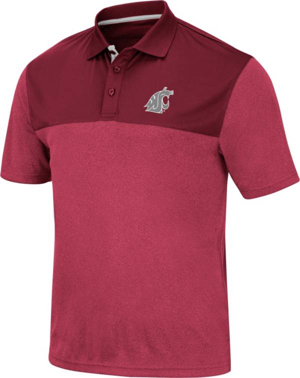Colosseum Men's Washington State Cougars Crimson Links Polo product image