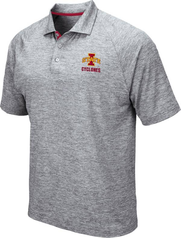 Colosseum Men's Iowa State Cyclones Grey Wedge Polo product image