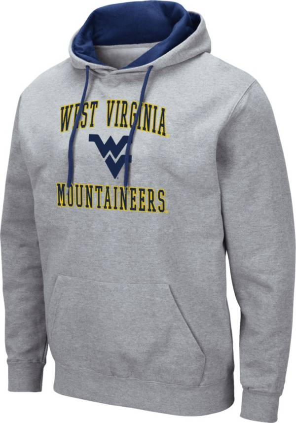 Colosseum Men's West Virginia Mountaineers Grey Pullover Hoodie product image
