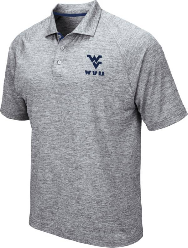 Colosseum Men's West Virginia Mountaineers Grey Wedge Polo product image