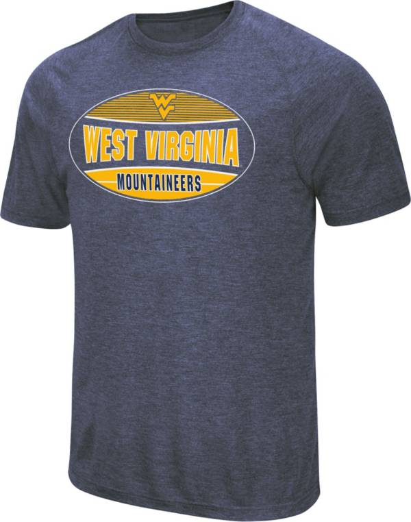 Colosseum Men's West Virginia Mountaineers Blue Jenkins T-Shirt product image