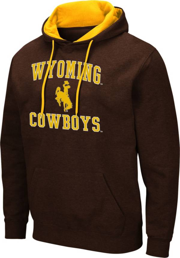 Colosseum Men's Wyoming Cowboys Brown Pullover Hoodie product image
