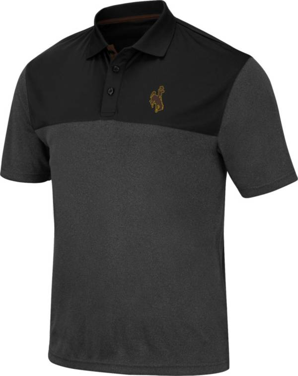 Colosseum Men's Wyoming Cowboys Black Links Polo product image