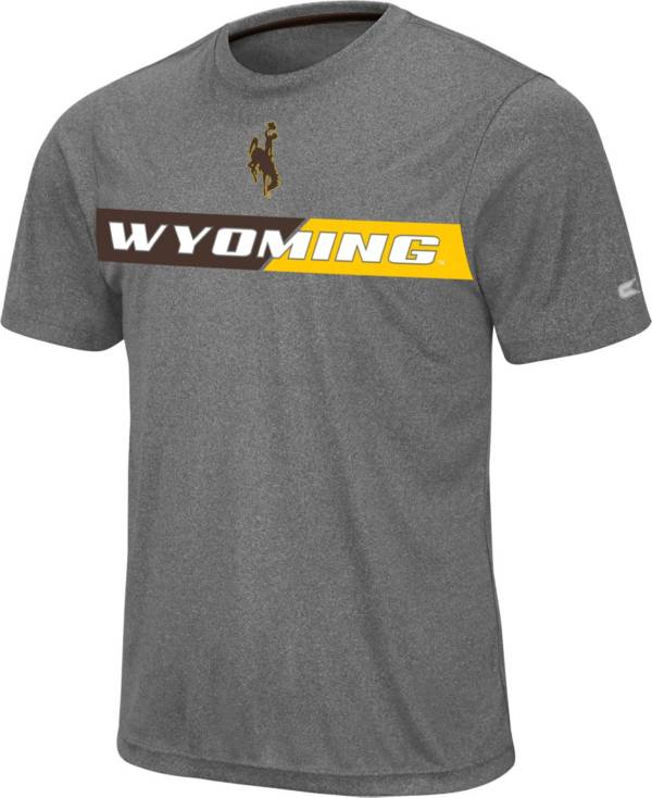 Colosseum Men's Wyoming Cowboys Grey Bait T-Shirt product image
