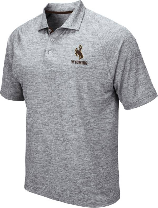 Colosseum Men's Wyoming Cowboys Grey Wedge Polo product image