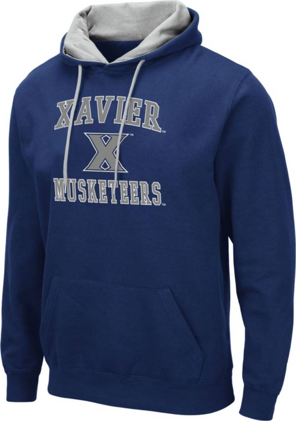 Colosseum Men's Xavier Musketeers Blue Pullover Hoodie product image