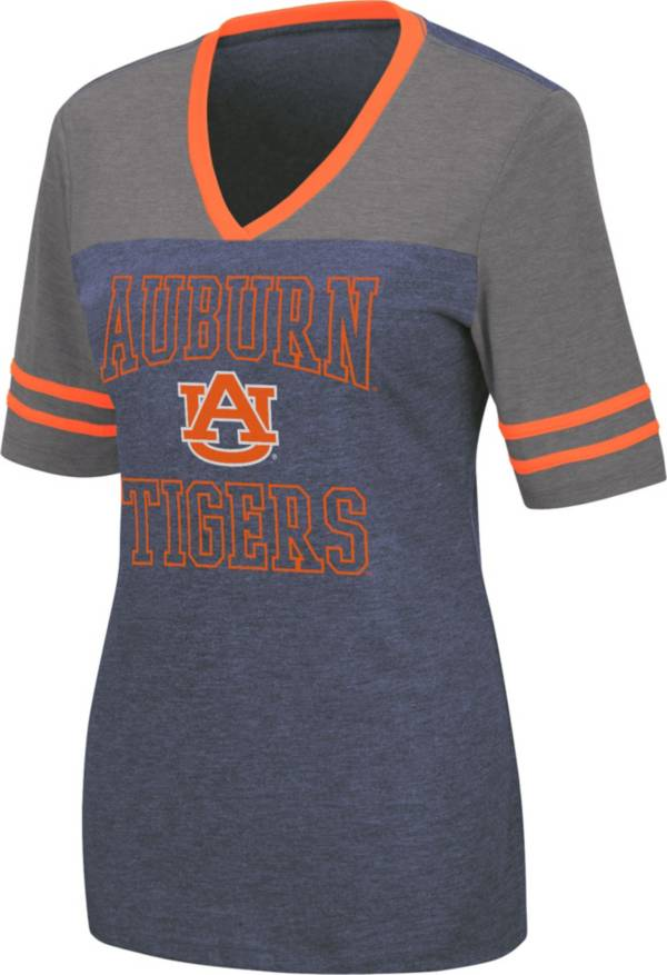 Colosseum Women's Auburn Tigers Blue Cuba Libre V-Neck T-Shirt product image