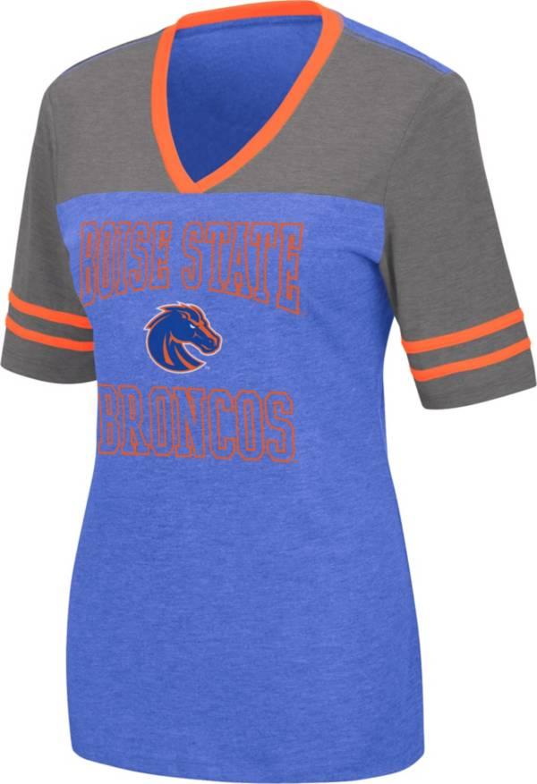 Colosseum Women's Boise State Broncos Blue Cuba Libre V-Neck T-Shirt product image
