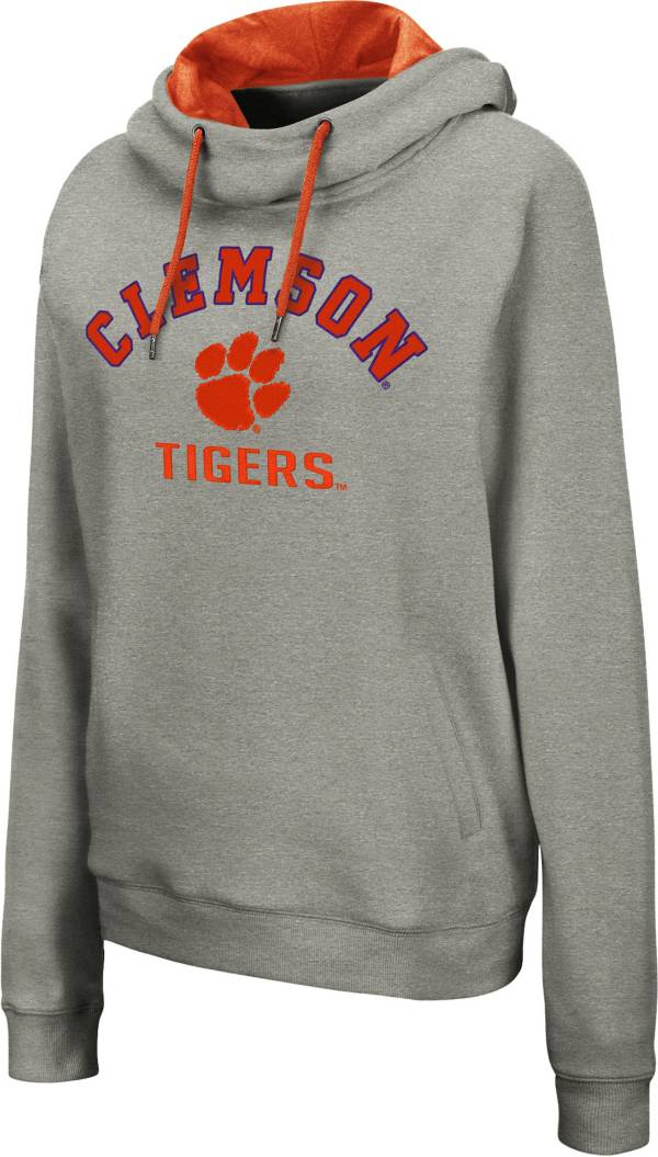 Colosseum Women's Clemson Tigers Grey Pullover Hoodie product image