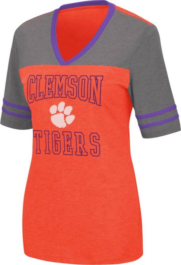Colosseum Women's Clemson Tigers Orange Cuba Libre V-Neck T-Shirt product image