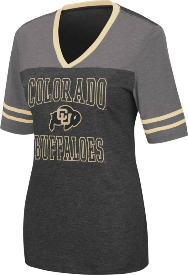 Colosseum Women's Colorado Buffaloes Cuba Libre V-Neck Black T-Shirt product image