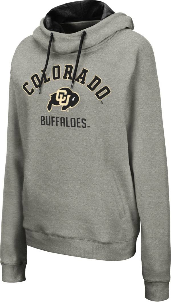 Colosseum Women's Colorado Buffaloes Grey Pullover Hoodie product image