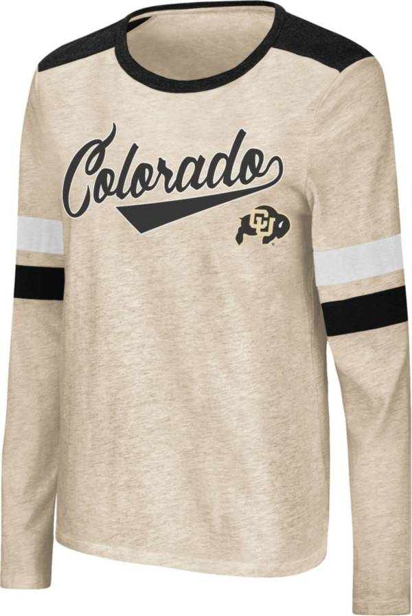 Colosseum Women's Colorado Buffaloes Oatmeal Itchy Brain Long Sleeve T-Shirt product image