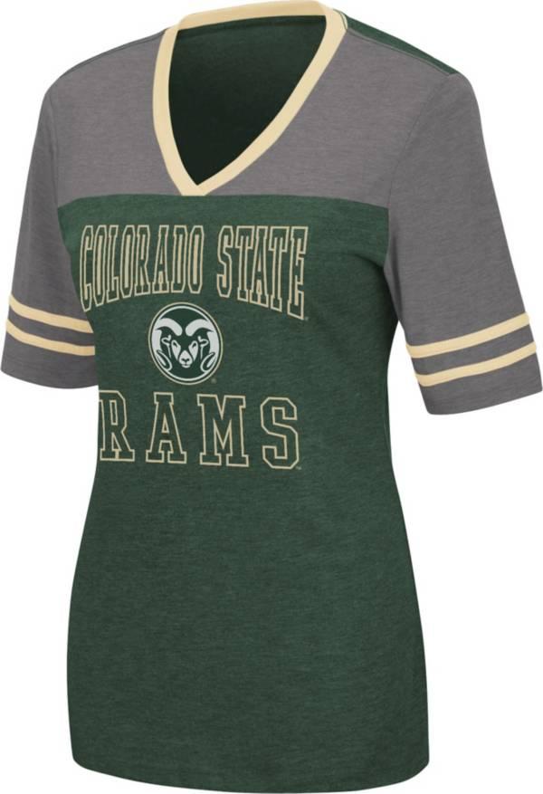 Colosseum Women's Colorado State Rams Green Cuba Libre V-Neck T-Shirt product image