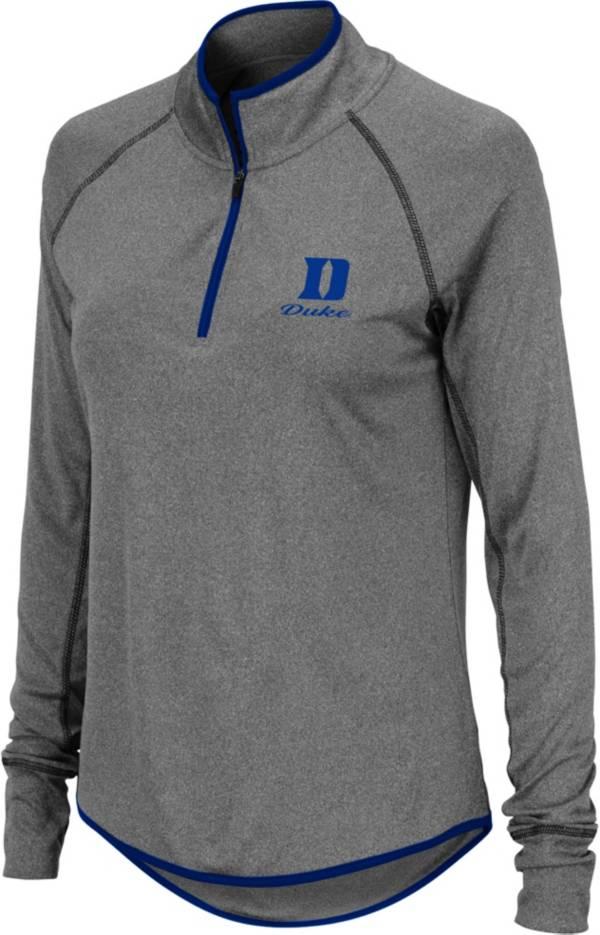 Colosseum Women's Duke Blue Devils Charcoal Stingray Quarter-Zip Shirt product image