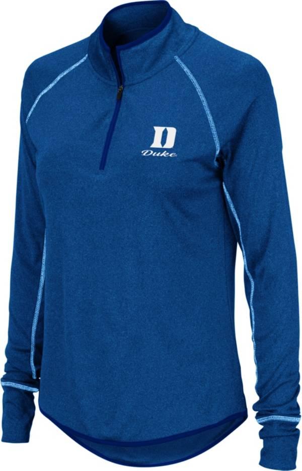 Colosseum Women's Duke Blue Devils Duke Blue Stingray Quarter-Zip Shirt product image