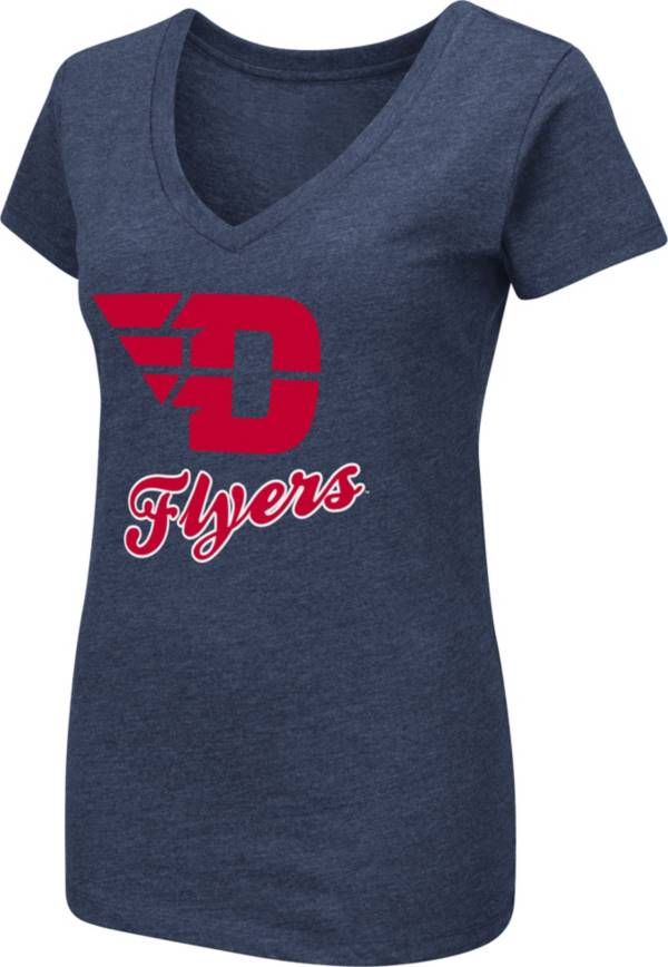 Colosseum Women's Dayton Flyers Blue Dual Blend V-Neck T-Shirt product image