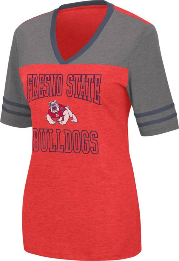 Colosseum Women's Fresno State Bulldogs Cardinal Cuba Libre V-Neck T-Shirt product image