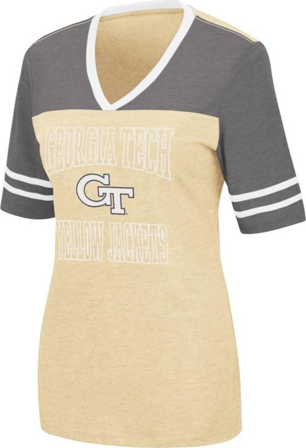 Colosseum Women's Georgia Tech Yellow Jackets Gold Cuba Libre V-Neck T-Shirt product image