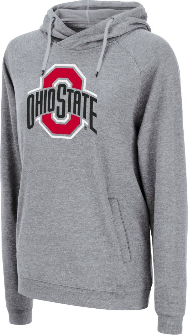 Colosseum Women's Ohio State Buckeyes Gray Pullover Hoodie product image
