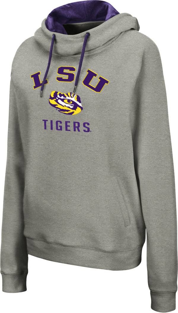 Colosseum Women's LSU Tigers Grey Pullover Hoodie product image