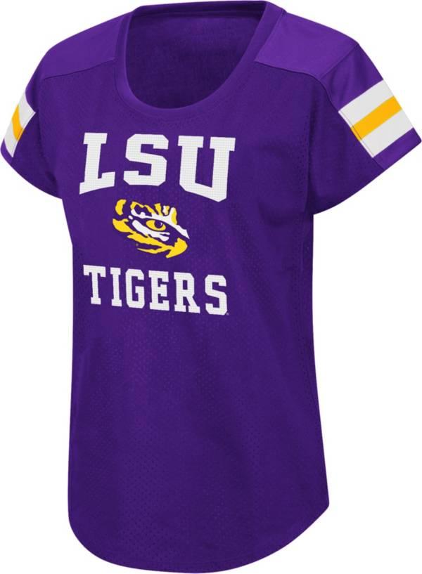 Colosseum Women's LSU Tigers Purple Football Dolman T-Shirt product image