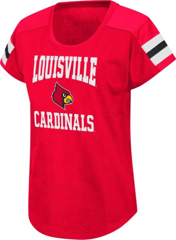 Colosseum Women's Louisville Cardinals Cardinal Red Football Dolman T-Shirt product image