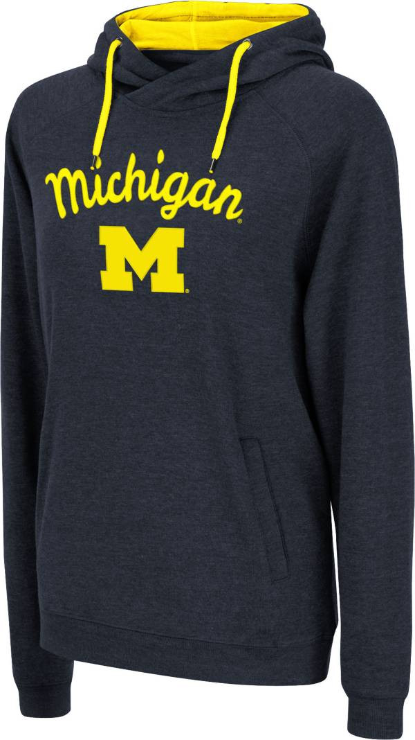 Colosseum Women's Michigan Wolverines Blue Pullover Hoodie product image