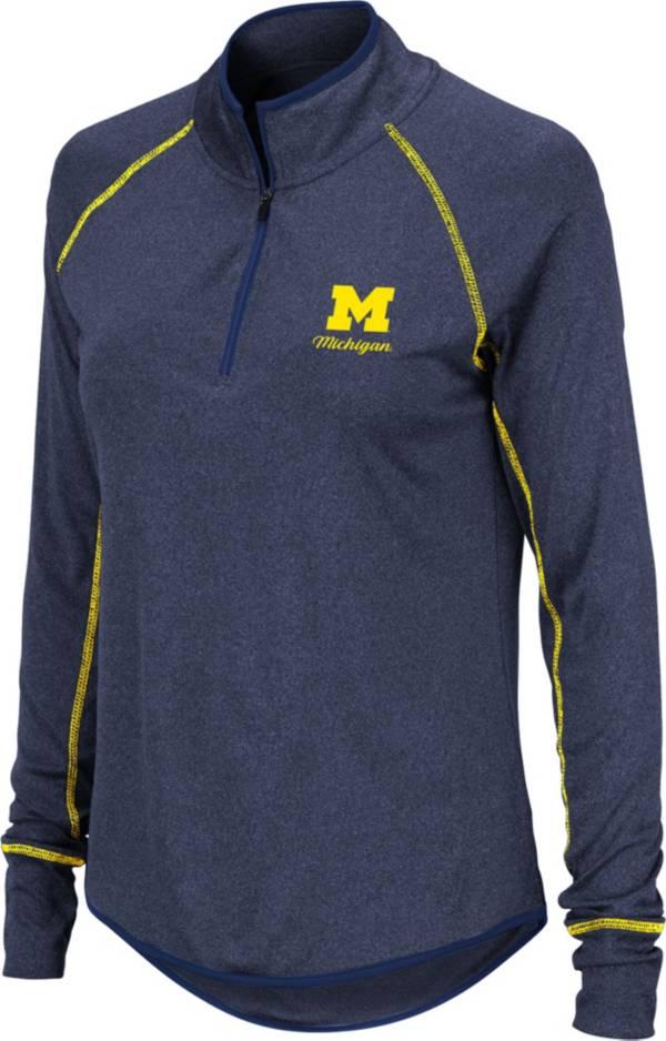 Colosseum Women's Michigan Wolverines Blue Stingray Quarter-Zip Shirt product image
