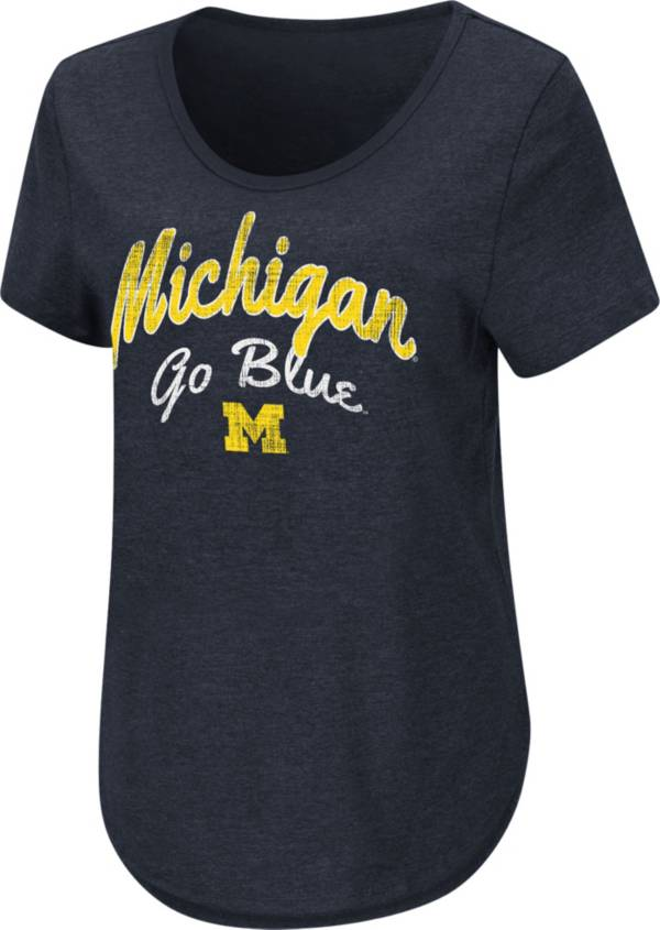 Colosseum Women's Michigan Wolverines Blue Rule Breaker T-Shirt product image
