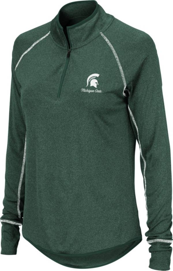 Colosseum Women's Michigan State Spartans Green Stingray Quarter-Zip Shirt product image