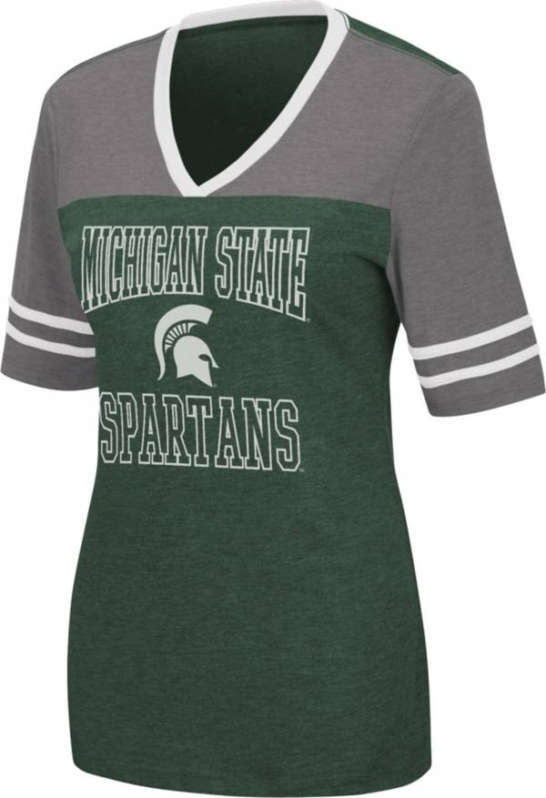 Colosseum Women's Michigan State Spartans Green Cuba Libre V-Neck T-Shirt product image