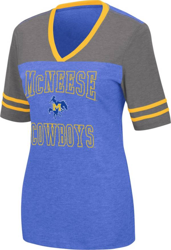 Colosseum Women's McNeese State Cowboys Royal Blue Cuba Libre V-Neck T-Shirt product image