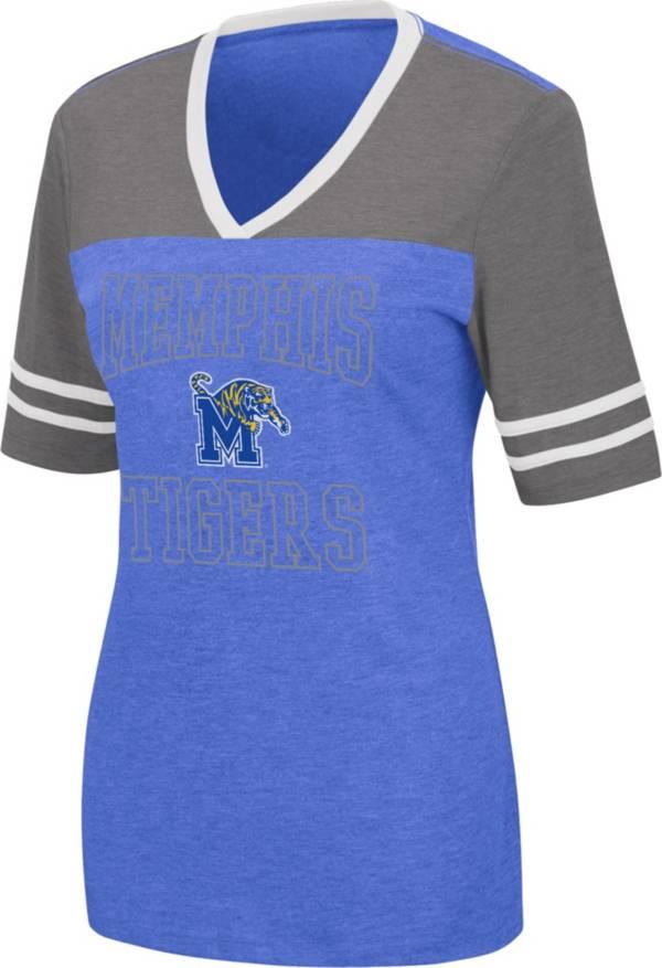 Colosseum Women's Memphis Tigers Blue Cuba Libre V-Neck T-Shirt product image