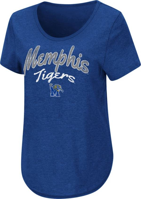 Colosseum Women's Memphis Tigers Blue Rule Breaker T-Shirt product image