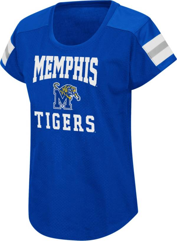 Colosseum Women's Memphis Tigers Blue Football Dolman T-Shirt product image