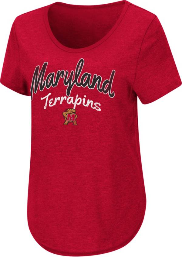 Colosseum Women's Maryland Terrapins Red Rule Breaker T-Shirt product image