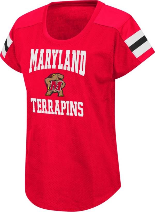 Colosseum Women's Maryland Terrapins Red Football Dolman T-Shirt product image