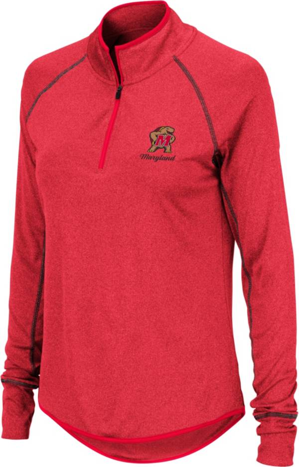 Colosseum Women's Maryland Terrapins Red Stingray Quarter-Zip Shirt product image