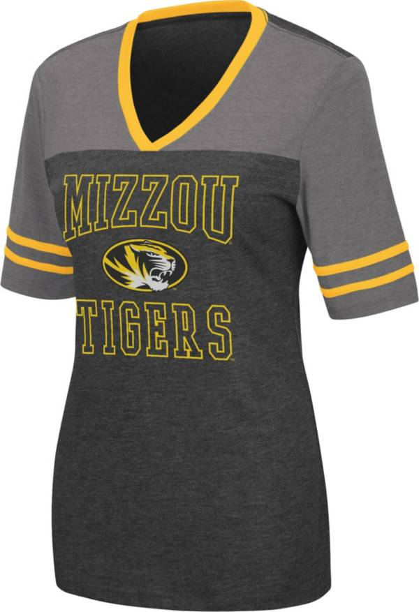 Colosseum Women's Missouri Tigers Cuba Libre V-Neck T-Black Shirt product image