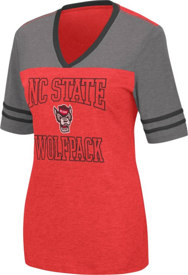 Colosseum Women's NC State Wolfpack Red Cuba Libre V-Neck T-Shirt product image