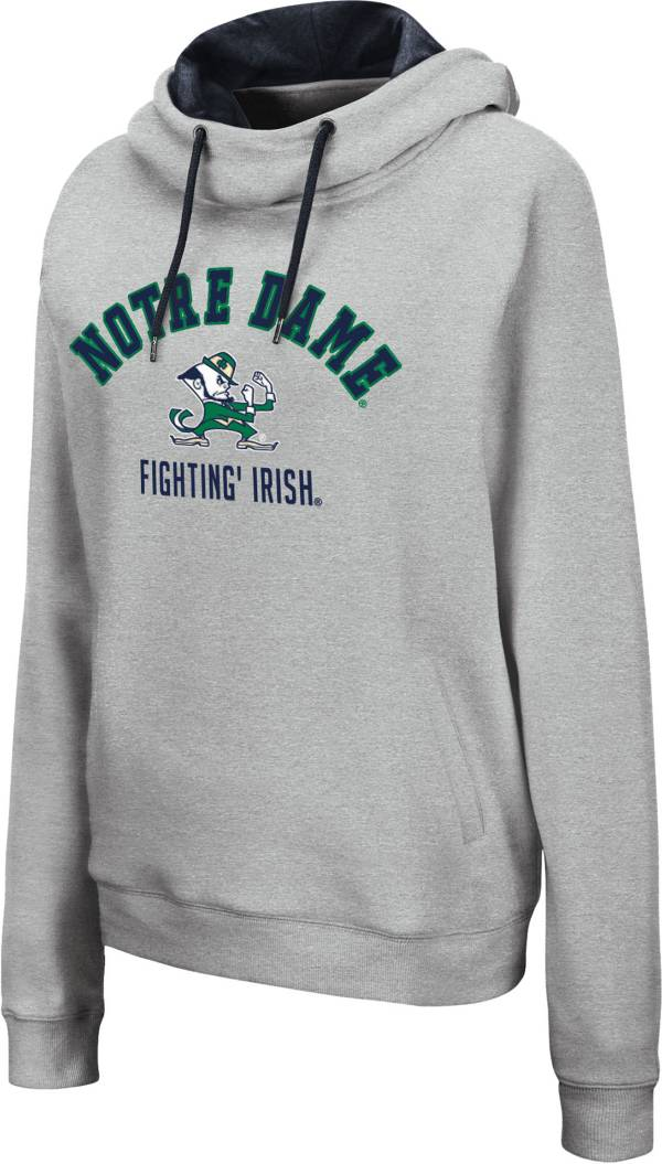 Colosseum Women's Notre Dame Fighting Irish Grey Pullover Hoodie product image