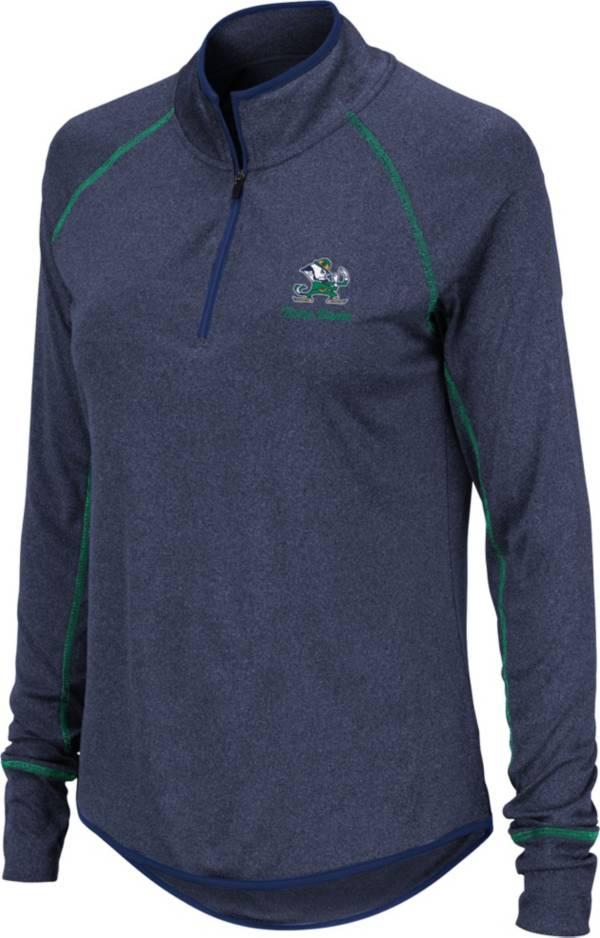 Colosseum Women's Notre Dame Fighting Irish Navy Stingray Quarter-Zip Shirt product image