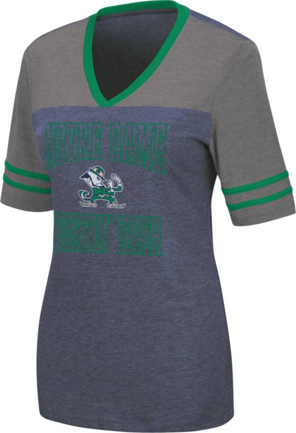 Colosseum Women's Notre Dame Fighting Irish Navy Cuba Libre V-Neck T-Shirt product image