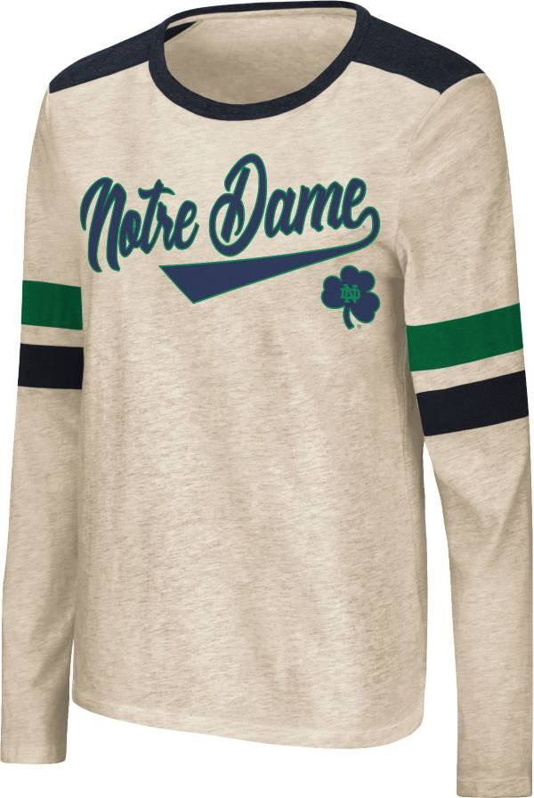 Colosseum Women's Notre Dame Fighting Irish Oatmeal Itchy Brain Long Sleeve T-Shirt product image
